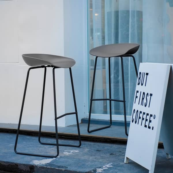 Fabulous Shop Art Leon Modern High Seat Bar Stool With Metal Base Caraccident5 Cool Chair Designs And Ideas Caraccident5Info