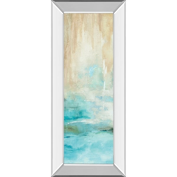 "18 in. x 42 in. ""Misty View I"" By Carol Robinson Mirror Framed Print Wall Art"