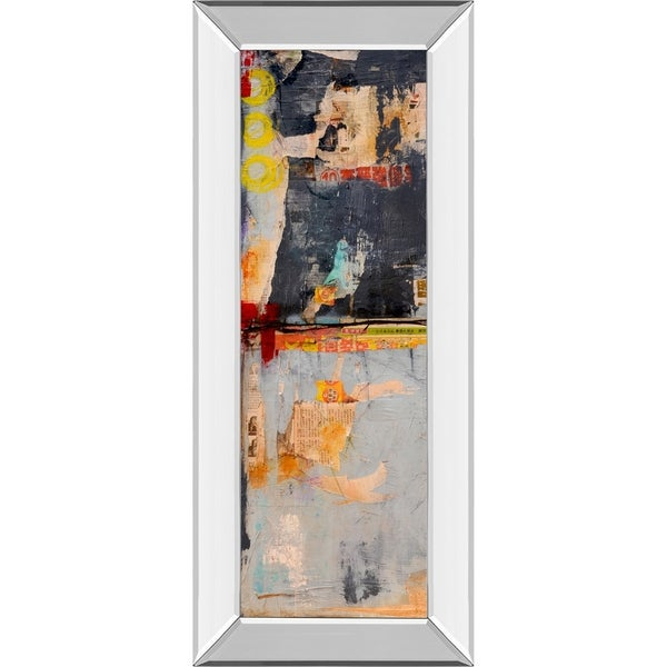"18 in. x 42 in. ""Hong Kong Post I"" By Erin Ashley Mirror Framed Print Wall Art"