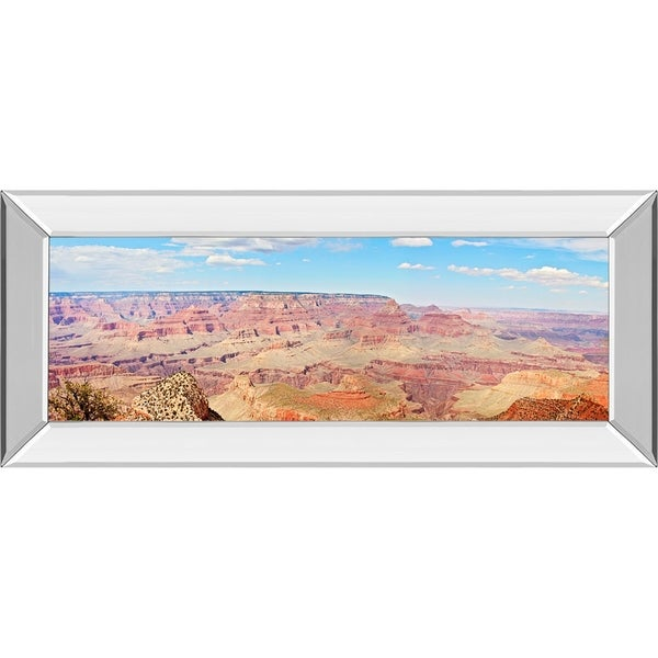 "18 in. x 42 in. ""Grand Canyon Panorama I"" By Sylvia Coomes Mirror Framed Print Wall Art"