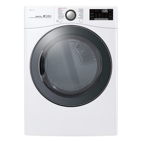LG DLEX3900W 7.4 cu.ft. Smart wi-fi Enabled Electric Dryer with TurboSteam - White