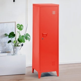 Carbon Loft Naur 1-door Wardrobe Metal Storage Cabinet
