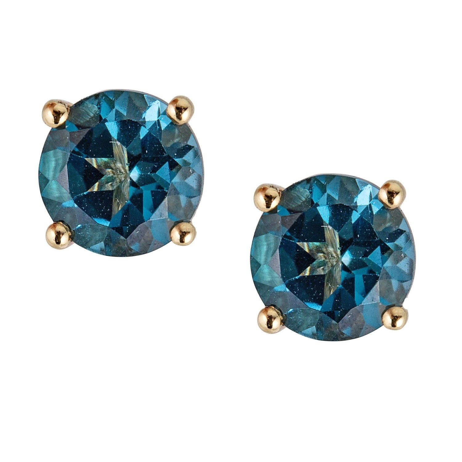 10k Yellow Gold London Blue Topaz Earring By Anika And August