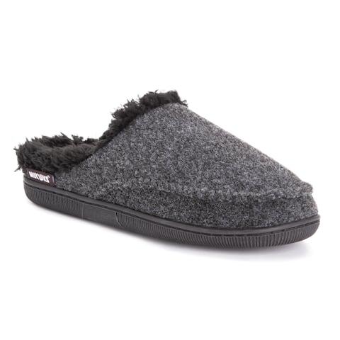 Men's Faux Wool Clog Slippers
