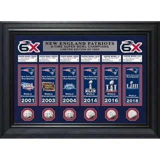 New England Patriots Champions Deluxe Banner Collection Photo Mint