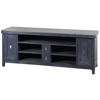 Klein 2-Door Blue Wood Five Open Space Area TV Stand