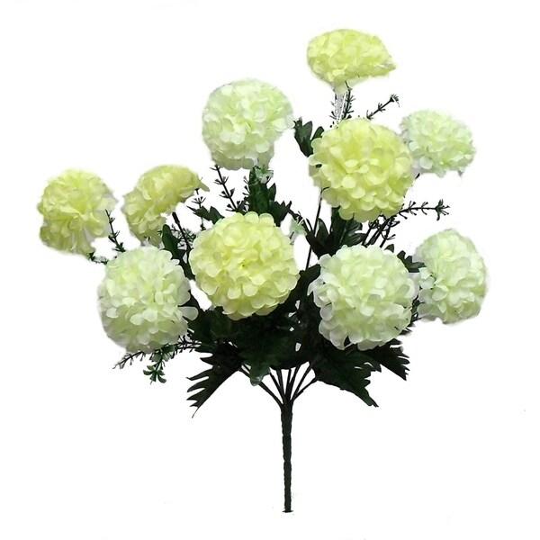 """16"""" hydrangea bush x 10 (bloom size is 3"""")"""