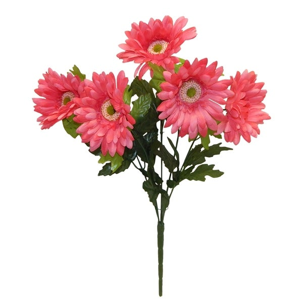 "21"" tall satin gerbera daisy bush"