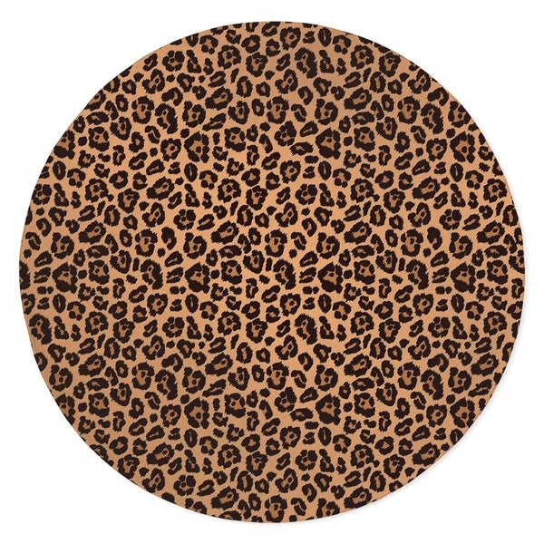 LEOPARD PRINT NATURAL Area Rug By Kavka Designs