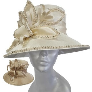 Women's dressy satin-covered couture hat church Kentucky Derby