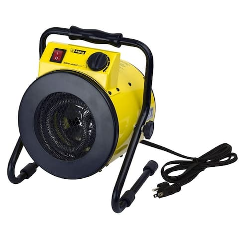 King Electric PSH1215T Portable Shop Heater with Thermostat, 1500W, 120V, Yellow