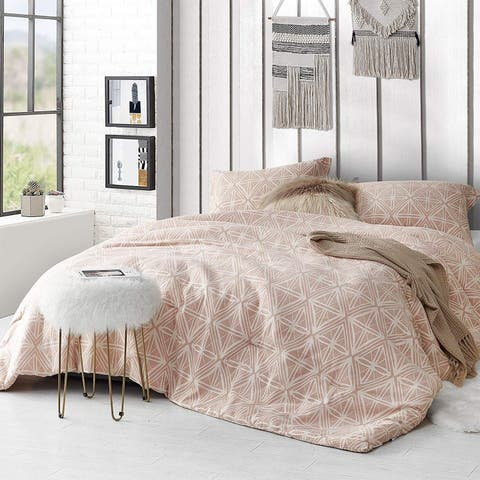 Calypso Sepia Peach Comforter - 100% Yarn Dyed Cotton