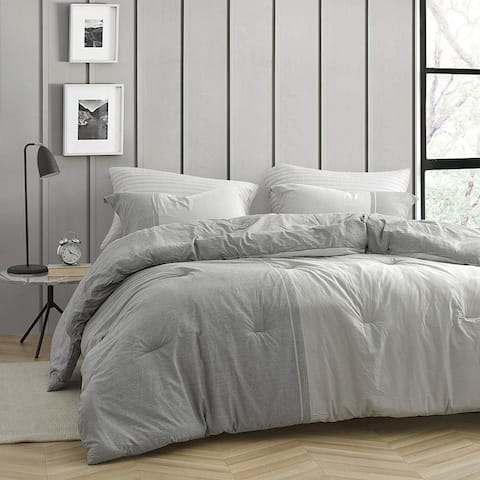 Half Moon - Dark Gray and Light Gray - Yarn Dyed Comforter