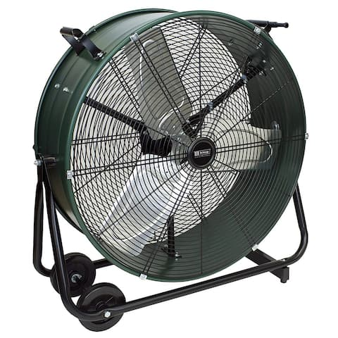 King Electric DFC-30D-S High Velocity Direct Drive Drum Fan For Industrial, Commercial Use, 8800 CFM, Swivel Base, 30""