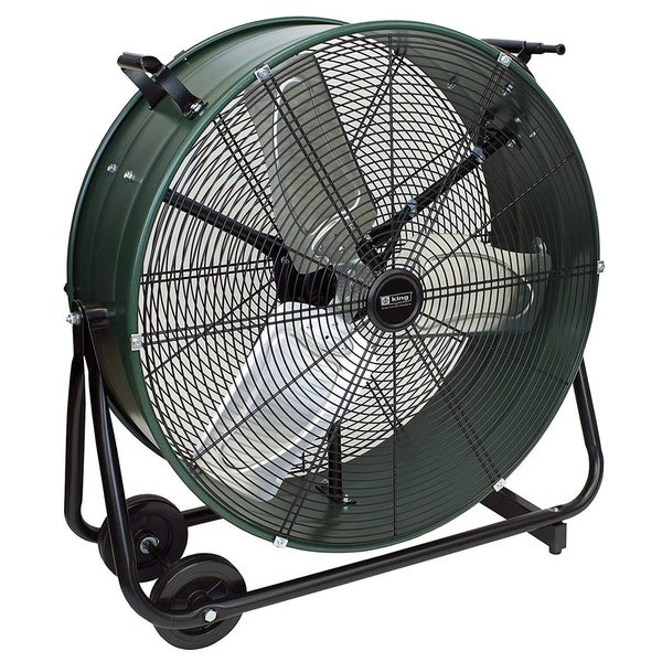 """King Electric DFC-30D-S High Velocity Direct Drive Drum Fan For Industrial, Commercial Use, 8800 CFM, Swivel Base, 30"""""""