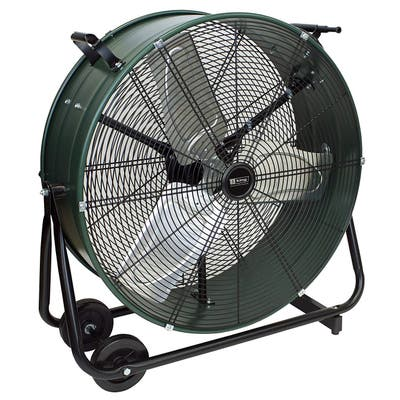 """King Electric DFC-24D-S High Velocity Direct Drive Drum Fan For Industrial, Commercial Use, 7300 CFM, Swivel Base, 24"""""""