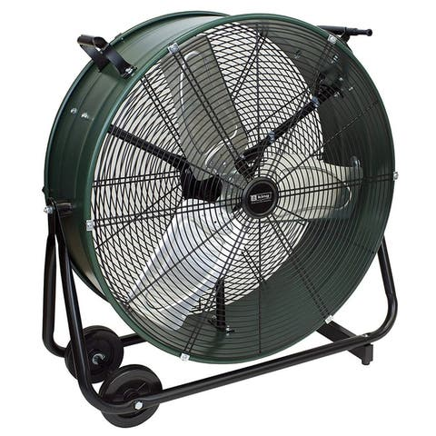 King Electric DFC-24D-S High Velocity Direct Drive Drum Fan For Industrial, Commercial Use, 7300 CFM, Swivel Base, 24""