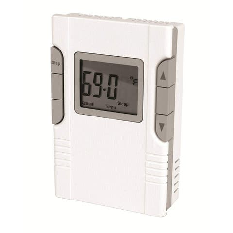 King Electric HBP 5+1+1 Day Electronic Programmable Thermostat 2 Circuit Control of Pump & Fan for Hydronic System, White