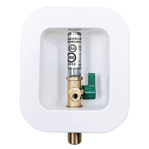 Dyconn Faucet MH1611-C11 Ice Maker Stop Valve with Hammer Arrester - Push to Connect