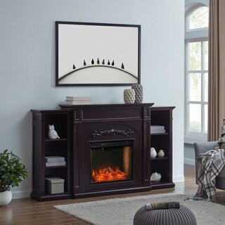 Chandler Traditional Brown Alexa Enabled Smart Fireplace