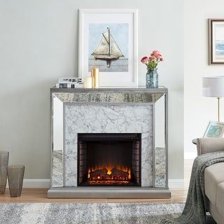 Silver Orchid Tranton Glam Mirror Electric Fireplace - N/A