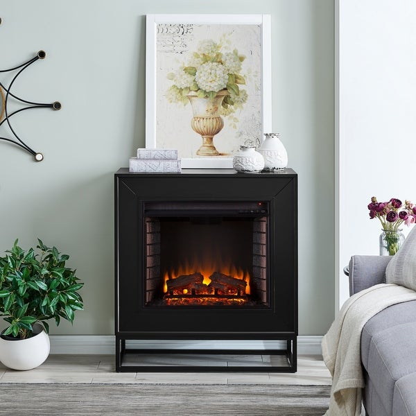 Holly & Martin Francis Contemporary Black Wood Electric Fireplace