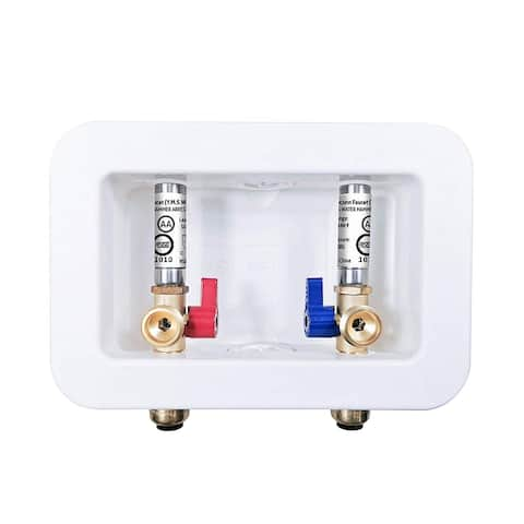Dyconn Faucet Washing Machine Outlet Box with Water Hammer Arrestor