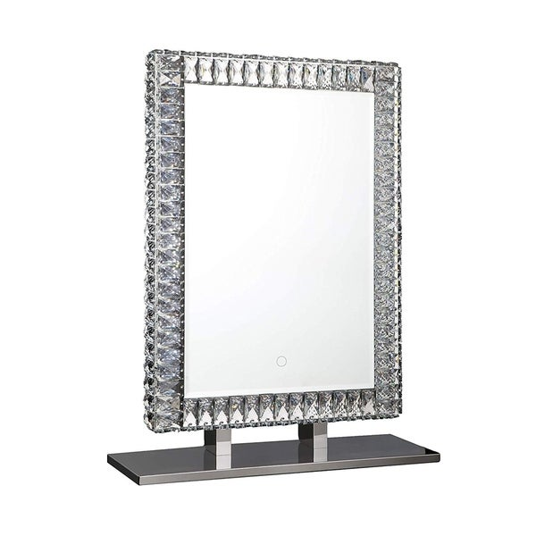 Dyconn Faucet Volta Tri-Color Backlit LED Bathroom Vanity Mirror with Touch ON/Off Dimmer - Clear