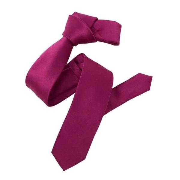 Dmitry Mens Fuchsia Italian Silk Solid Skinny Tie