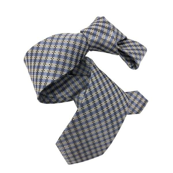 DMITRY Mens Light Blue Patterned Italian Silk Tie