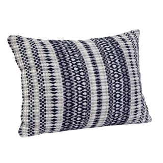 Lazzelle Navy/White/Grey Throw Pillow by Greyson Living