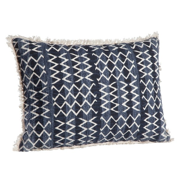 Everly Navy/White Throw Pillow by Greyson Living