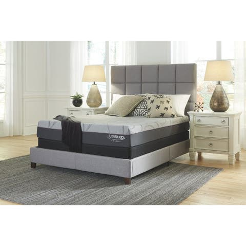 Signature Design by Ashley Palisades 10 Inch Foam Mattress with Head-Foot Model-Good Adjustable Bed Frame