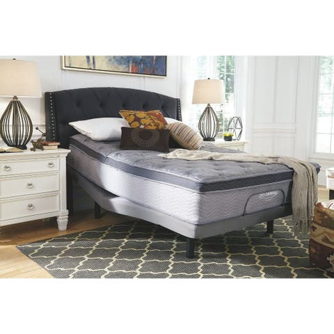 Signature Design by Ashley Augusta 12 Inch Pillowtop Mattress with Head-Foot Model-Good Adjustable Bed Frame