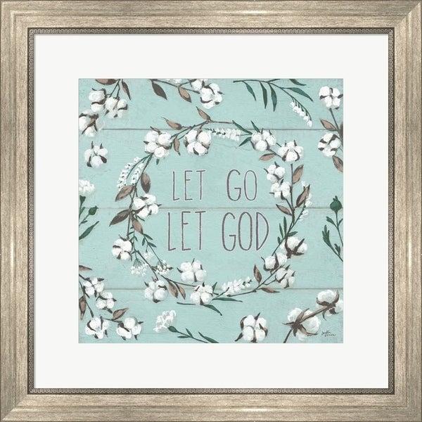 Janelle Penner 'Blessed VII Mint Let Go Let God' Framed Art