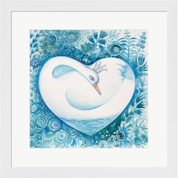 Oxana Zaika 'White Swan' Framed Art