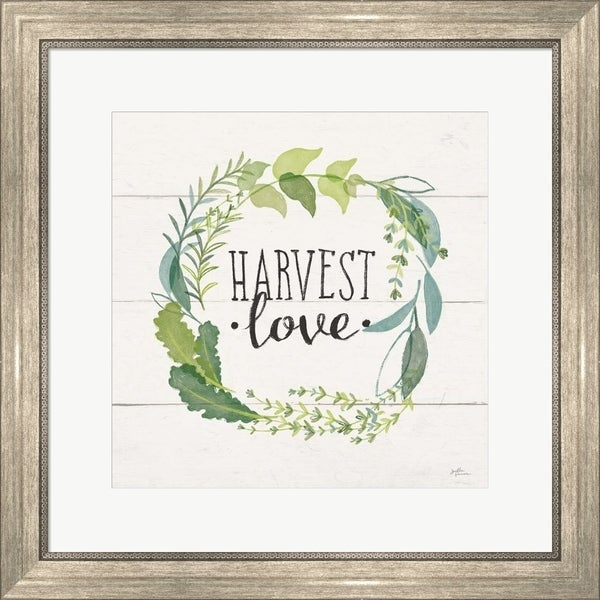 Janelle Penner 'Fine Herbs III Foliage and Shiplap' Framed Art