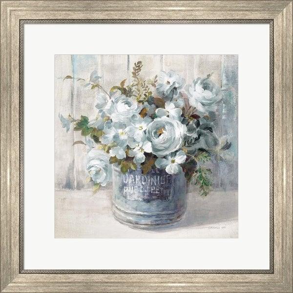 Danhui Nai 'Garden Blooms I Blue Crop' Framed Art
