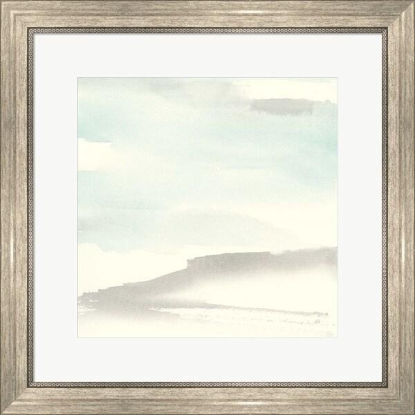 Chris Paschke 'Teal Sky II' Framed Art