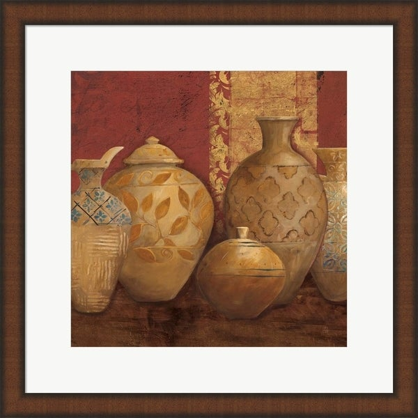 Avery Tillmon 'Aegean Vessels Spice Extra Vessel Crop' Framed Art
