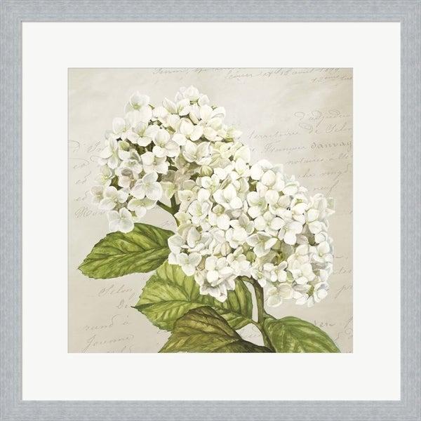 Remy Dellal 'Hydrangeas III (Neutre)' Framed Art