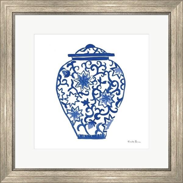 Farida Zaman 'Chinoiserie III' Framed Art