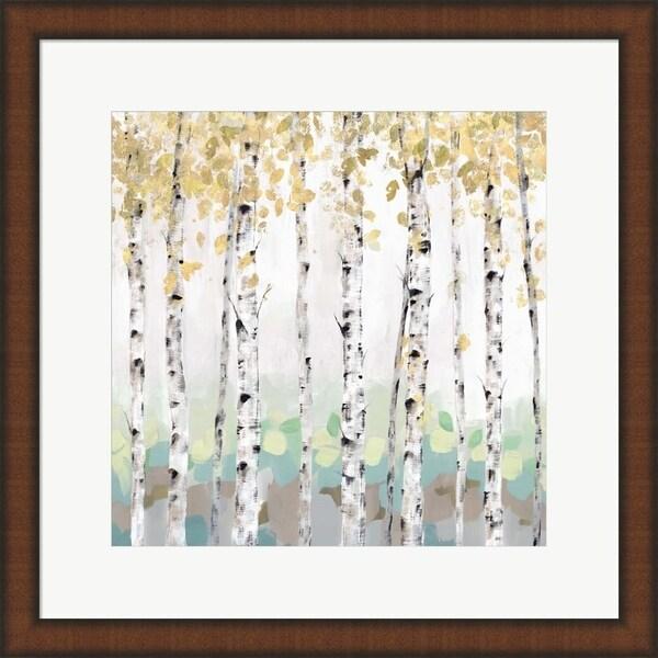 Isabelle Z 'Golden Treescape' Framed Art