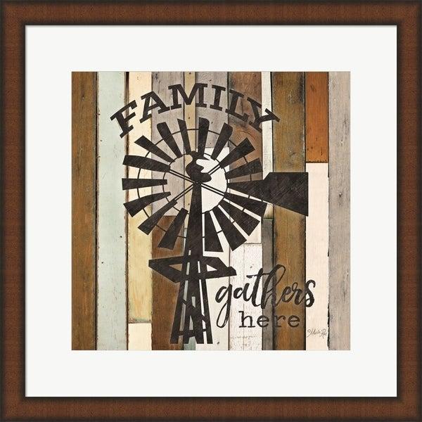 Marla Rae 'Family Gathers Here' Framed Art