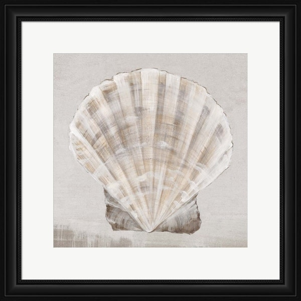 Eva Watts 'Neutral Shells II' Framed Art