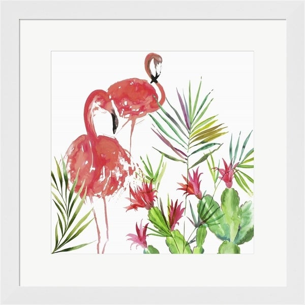 Aimee Wilson 'Flamingo Pairing' Framed Art