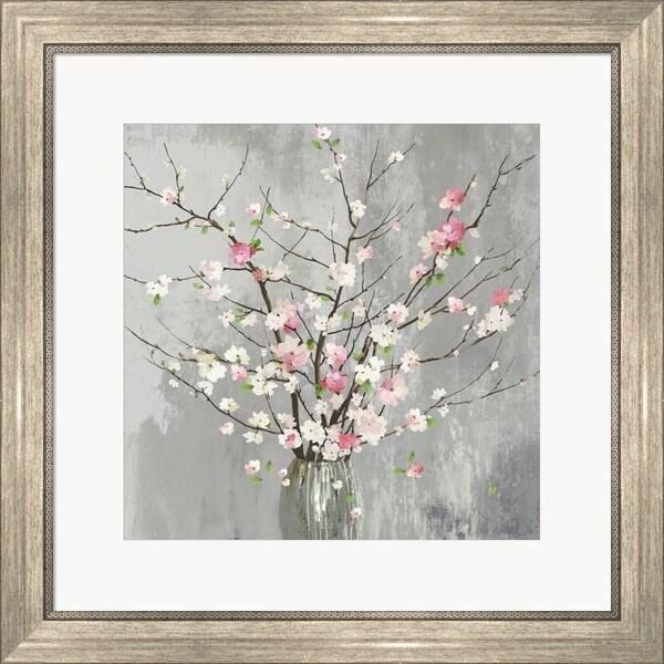 Asia Jensen 'Delicate Pink Blooms' Framed Art