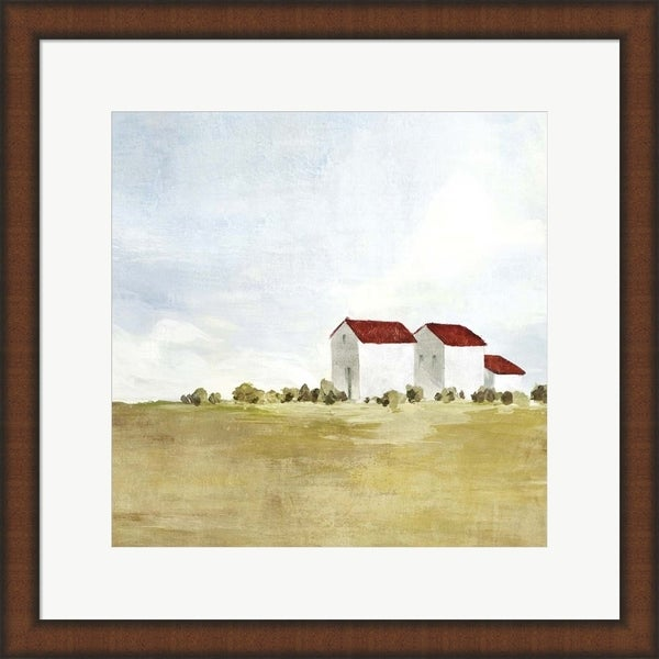 Isabelle Z 'Red Farm House II' Framed Art