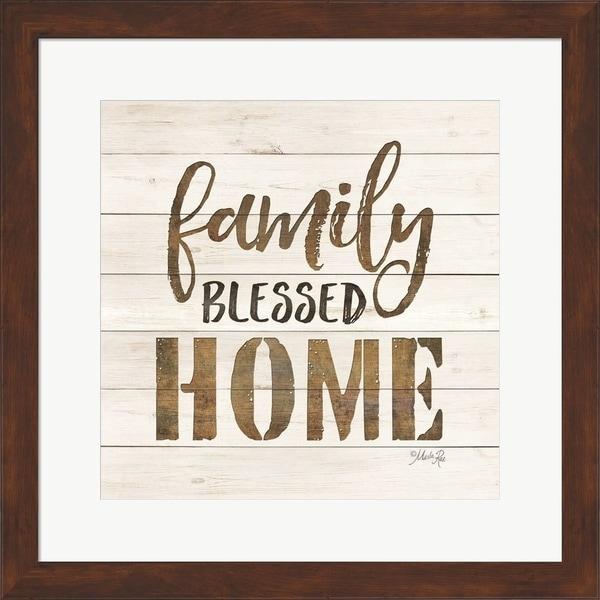 Marla Rae 'Family Blessed Home' Framed Art