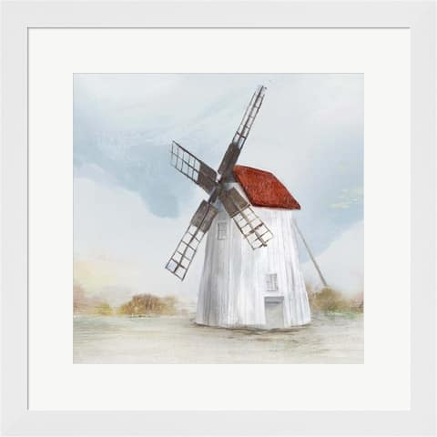 Isabelle Z 'Red Windmill II' Framed Art